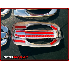 VIVARO TRAFIC door handle cover inox chrome 3D