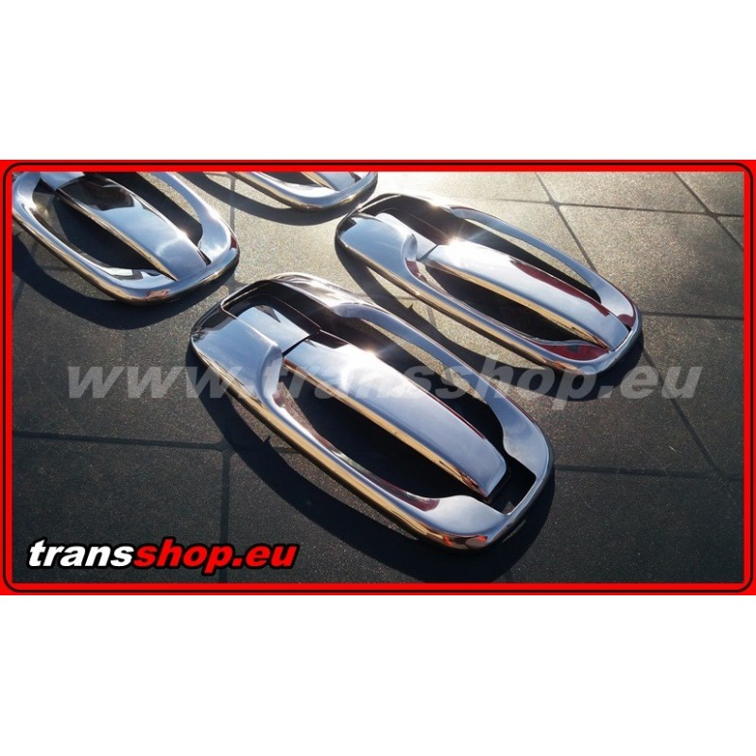 VIVARO TRAFIC door handle cover inox chrome 3D - TRANSSHOP