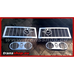 Scania R front + fog lights cover stainless