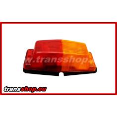 DOUBLE BURNER oranžovo-cerveny lampa 2 žárovky