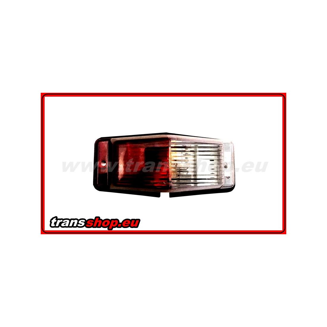 DOUBLE BURNER bilo-cerveny lampa 2 žárovky