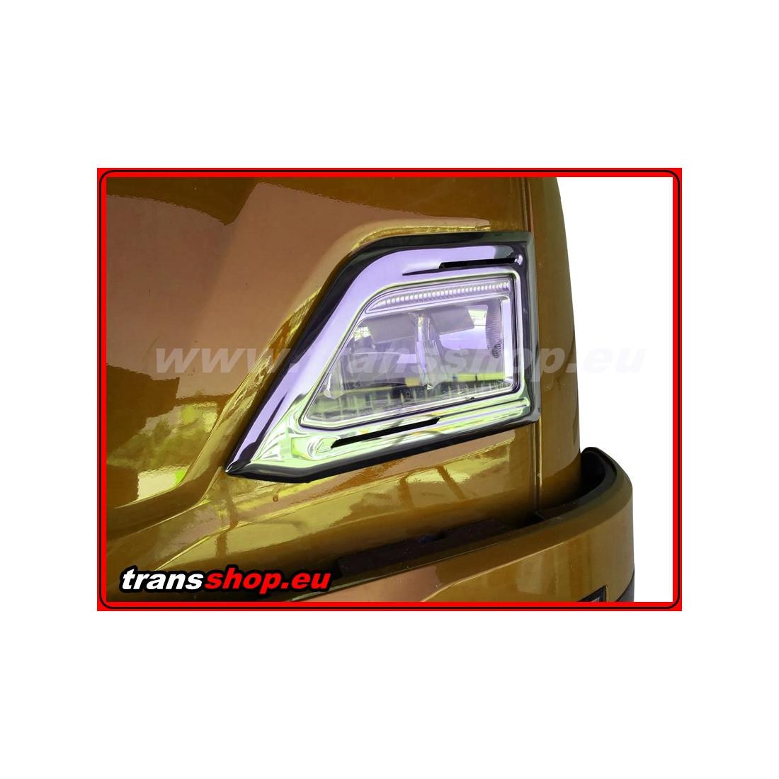 SCANIA S NG Edelstahl 3D Dekor Top Scheinwerfer Abdeckung