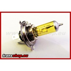 H4 yellow halogen bulb 24V 70W
