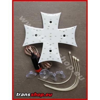 Podsvícený kříž LED bily