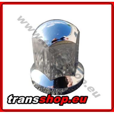 Radmutternkappe Kunststoff  Chrom 32 mm