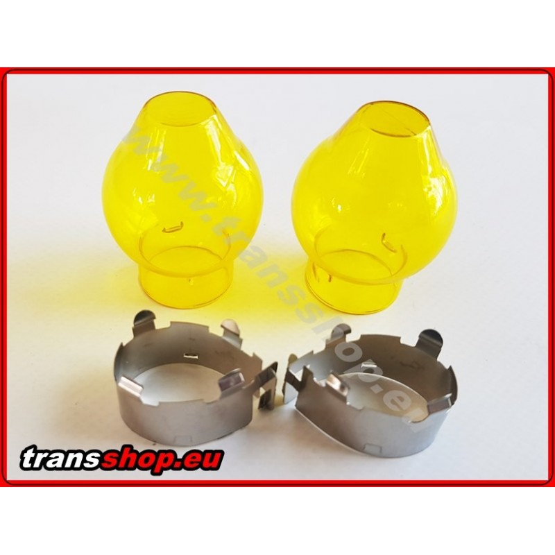 Bulb cover yellow H4