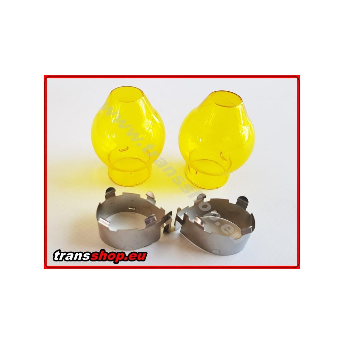 Kryt žárovky žlutý H4