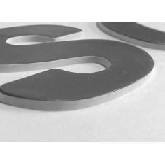 Mud flap MERCEDES black - white 3D