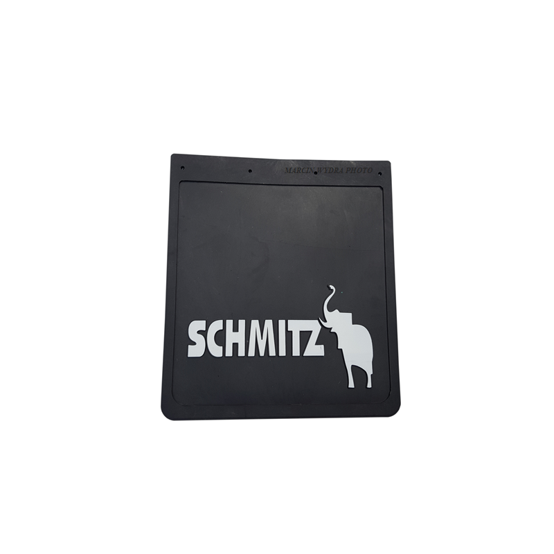 Mud flap SCHMITZ black - white 3D