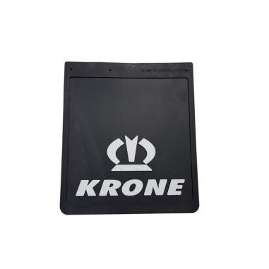 Mud flap KRONE black - white 3D