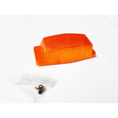 Glass Orange DOUBLE BURNER / Doppelbrenner Lampenschirm