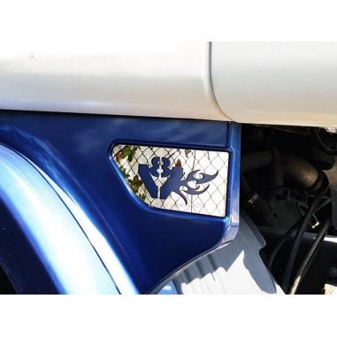 SCANIA V8 inox decoration under cab mudguard