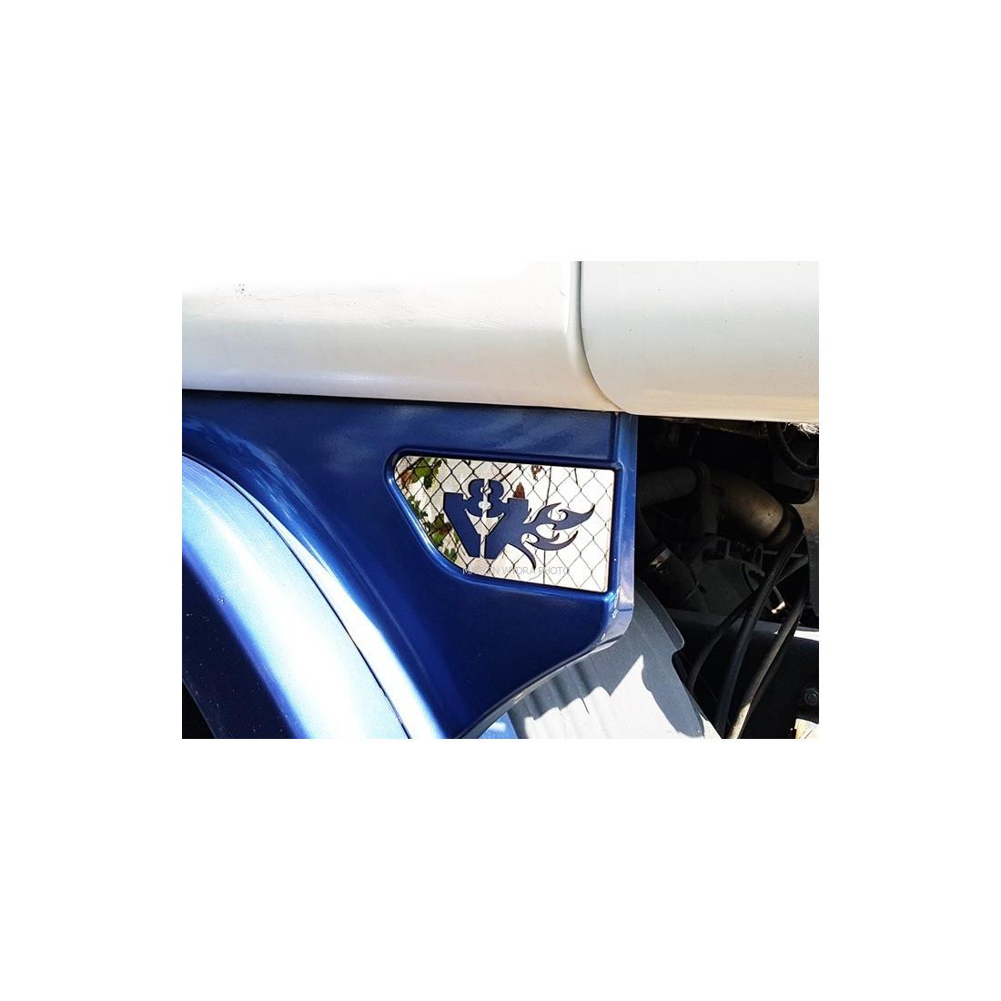 Scania V8 Edelstahl Dekor Flügel Chrome