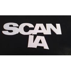 Scania nerezovy napis na masku 72 cm