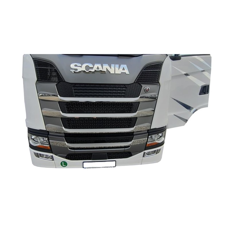 Staniless grill SCANIA S chrome