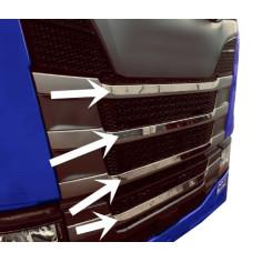 Scania S NG lišty na masku nerezove tvarované (3D)