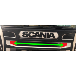 SCANIA R stainless corner covers grill