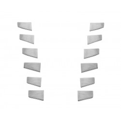 SCANIA R stainless corner covers 12pcs grill