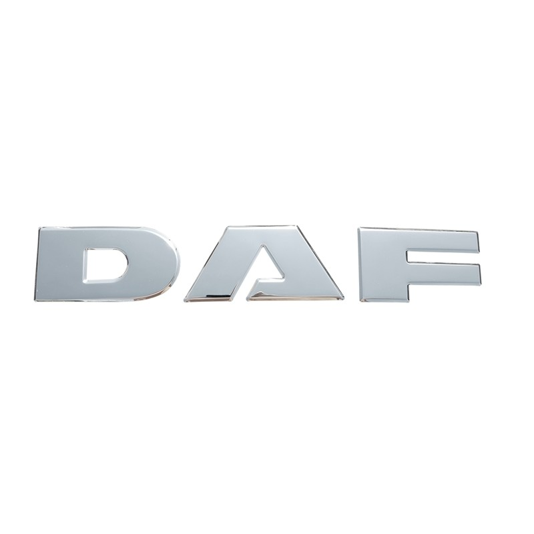 DAF letters pressed chrome grill decoration upper