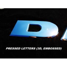 DAF Inschrift gepresstes 3D ober Grill Dekor Chrom Edelstahl