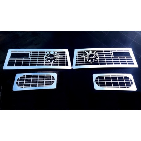 Scania 4 front + fog lights cover stainless