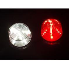 Budgetversion Ersatzglas Gylle LED Rot - Weiss