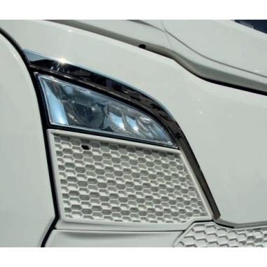 Scania NG nerezove tvarované  lemy sání 3D