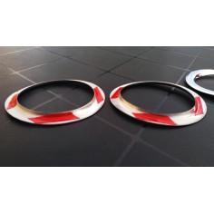 SCANIA R chrome decoration rings fog lights stainless steel