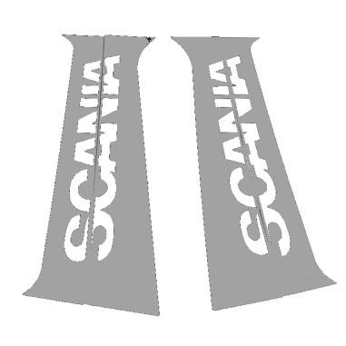 SCANIA 4 R Door pillar stainless chrome