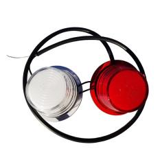 LED NEON Pendelleuchte Weiß Rot Dänisch