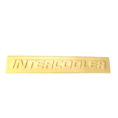 EMBLEMAT PLASTIKOWY INTERCOOLER 27,5 cm