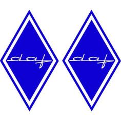 2x Sticker diamond DAF blue