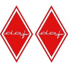 2x Sticker diamond DAF red