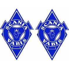 2x Sticker diamond SCANIA BLUE