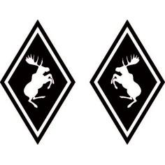 2x Aufkleber Elch Volvo Schwarz Diamant