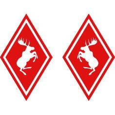 2x Aufkleber Elch Volvo Red Diamant