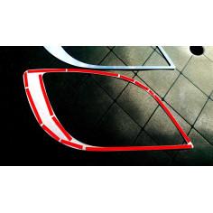 DAF XF E6 Edelstahl Dekor Scheinwerfer Abdeckung