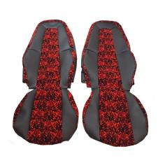 VOLVO FH4 Sitzbezüge Rot Dänisch Plüsch