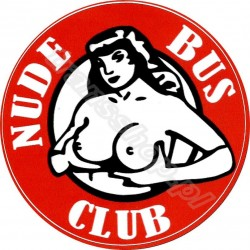 NAKLEJKA NUDE BUS CLUB