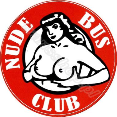 NAKLEJKA NUDE BUS CLUB