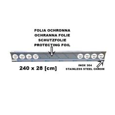Stainless bumper 240cm trailer chrome