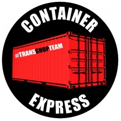 CONTAINER EXPRESS STICKER 10 CM