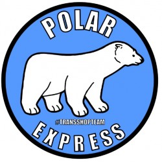 POLAR EXPRESS NAKLEJKA WLEPA 10 CM