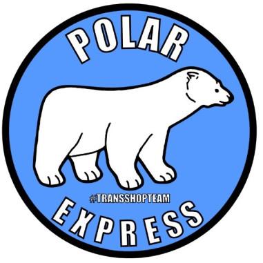 POLAR EXPRESS AUFKLEBER 10 CM