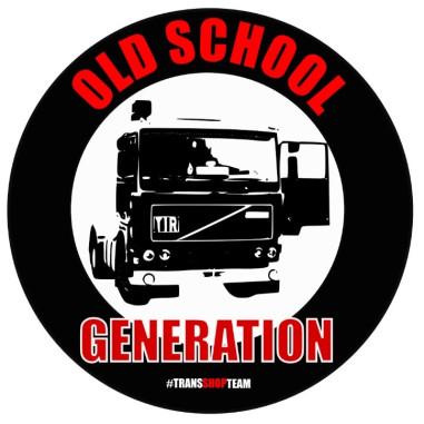 OLD SCHOOL GENERATION NAKLEJKA WLEPA 10 CM