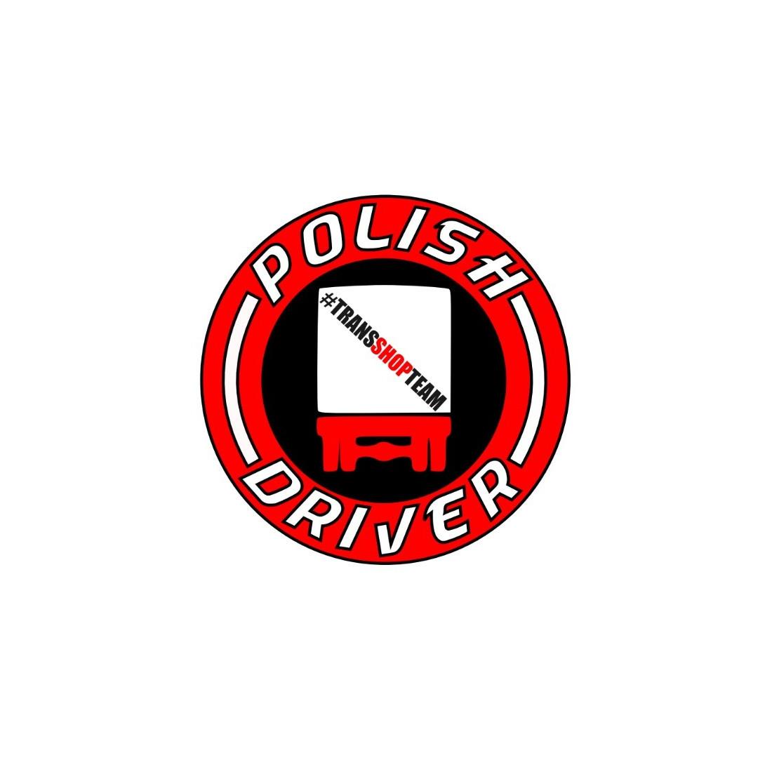 POLISH DRIVER NAKLEJKA WLEPA 10 CM