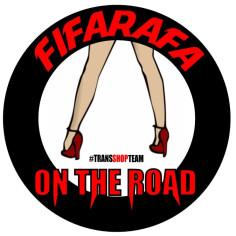 FIFARAFA ON THE ROAD AUFKLEBER 10 CM