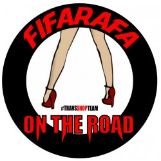 FIFARAFA ON THE ROAD NALEPKA 10 CM