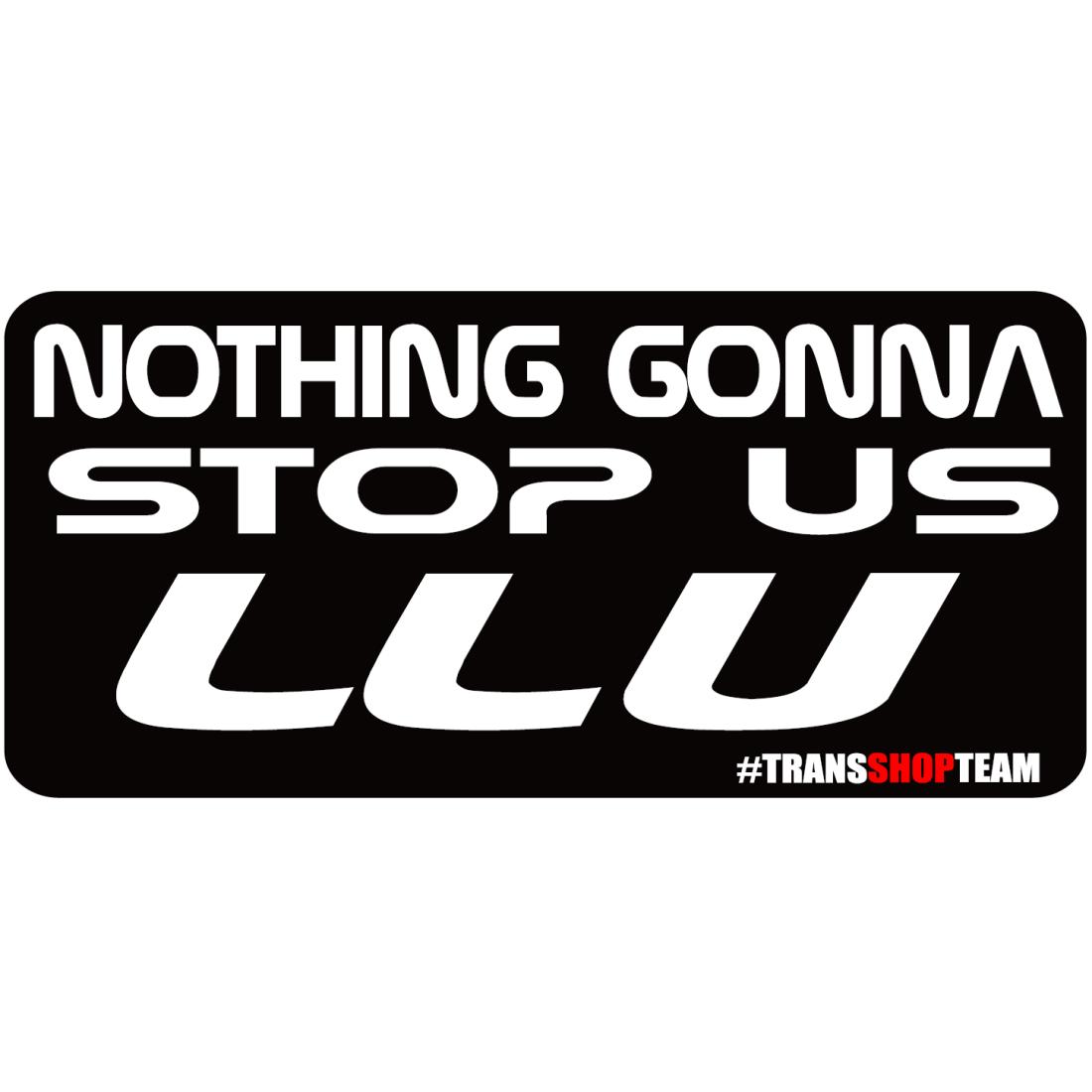 NOTHING GONNA STOP US LLU 30 CM STICKER