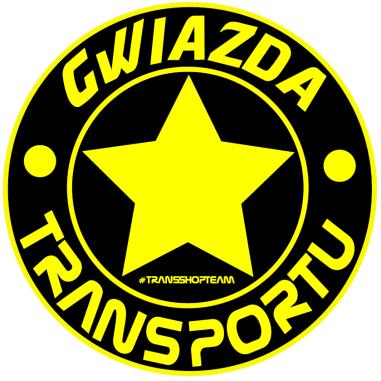 GWIAZDA TRANSPORTU NAKLEJKA WLEPA 10 CM